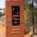 Ayers Rock -02 bis- entrée du parc national